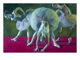 Dancers Green and Rose Prints by John Asaro