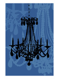 Chandelier 4 Blueberry Poster by Sharyn Sowell