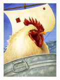 Chicken Ship Giclée-Druck von Will Bullas