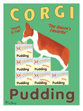 Corgi Pudding Giclee Print by Ken Bailey