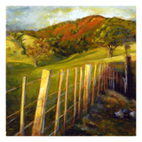 A Running Fence Giclee Print by Sarah Waldron