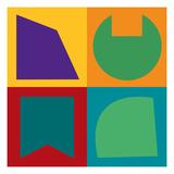 Geometric Study B Poster by  GI ArtLab