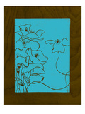 Wenge Wood Floral 3-Blue Giclee Print by Kathleen McCarty