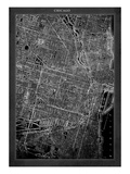 Chicago Map Giclee Print by  GI ArtLab