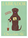 Lab Chocolate Ale Premium Giclee Print by Ken Bailey