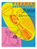 Kitchen Archeology - Hand Held and Electric Mixers Giclee Print by Lauder Bowden