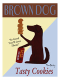 Brown Dog Tasty Cookies Giclee Print by Ken Bailey