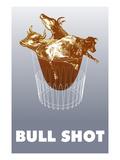 Bull Shot Giclee Print by Lauder Bowden