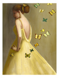Little Wings Yellow Giclee Print by Janet Hill