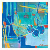Frutas en Azul Giclee Print by Luis Amer