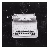 White Typewriter Giclee Print by JB Hall