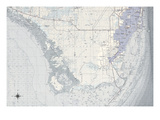 Miami Map B Giclee Print by  GI ArtLab