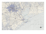 Houston Map B Prints by  GI ArtLab