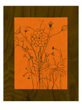 Wenge Wood Floral 2-Orange Giclee Print by Kathleen McCarty