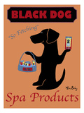 Black Dog Spa Giclee Print by Ken Bailey