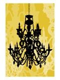 Chandelier 1 Yellow Giclee Print by Sharyn Sowell