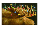 Another Xmas Moose Giclee Print by Will Bullas