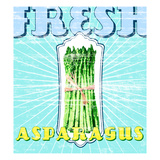 Fresh Asparagus Giclee Print by  GI ArtLab
