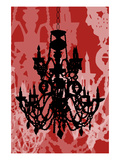 Chandelier 1 Red Giclee Print by Sharyn Sowell