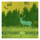 Explore Your World 3 Giclee Print by CJ Elliott