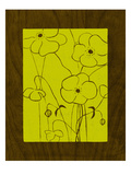 Wenge Wood Floral 4-Lime Giclee Print by Kathleen McCarty