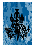 Chandelier 1 Blue Giclee Print by Sharyn Sowell
