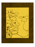 Wenge Wood Floral 3-Lemon Giclee Print by Kathleen McCarty