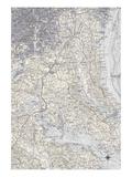 Washington DC Map B Affiches par  GI ArtLab