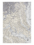 Washington DC Map B Prints by  GI ArtLab