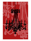 Chandelier 4 Wine Giclee Print by Sharyn Sowell