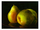 Three Pears Giclee Print by Terri Hill