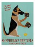 Shepherd's Pretzels Wydruk giclee autor Ken Bailey