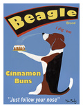 Beagle Buns Giclee Print by Ken Bailey