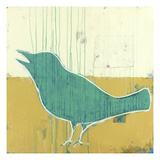 Green Sparrow Giclee Print by Christopher Balder