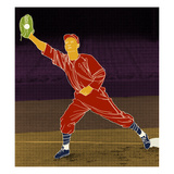 First Base Catch 2 Giclee Print by Robert Williamson