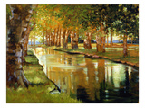 Canal at St. Remy Giclee Print by Sarah Waldron