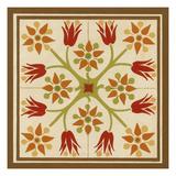 Floral Folk Tile II Poster by Erica J. Vess