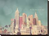 New York in Las Vegas Stretched Canvas Print by Charlene Precious