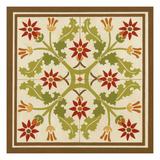 Floral Folk Tile IV Print by Erica J. Vess