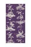 Toile in Plum Giclee Print by Vision Studio