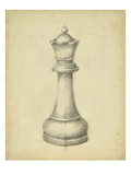 Antique Chess III Art by Ethan Harper