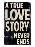 A True Love Affiches par  Barn Owl Primitives