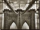 Brooklyn Cables Stretched Canvas Print by Dale MacMillan