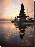 Water Temple, Bedugul Bali Stretched Canvas Print by Byron Yu