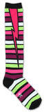 Stripe Bolt Socks Socks