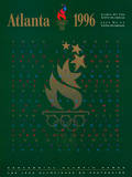 Atlanta 1996 Olympics 100 Year Flames with Stars Official Sports Poster Print Plakater