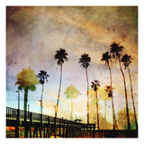 Sunset on the Pier A Premium Giclee Print by  GI ArtLab