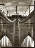 Brooklyn Cables 2 Stretched Canvas Print by Dale MacMillan