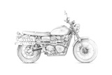 Motorcycle Sketch III Prints by Megan Meagher