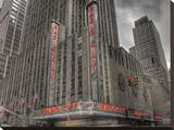 Radio City Red, New York City Stretched Canvas Print by A.J. Messier